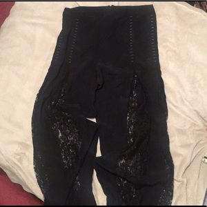 FREE SHIPPING Haute Hippie Black Lace Pants